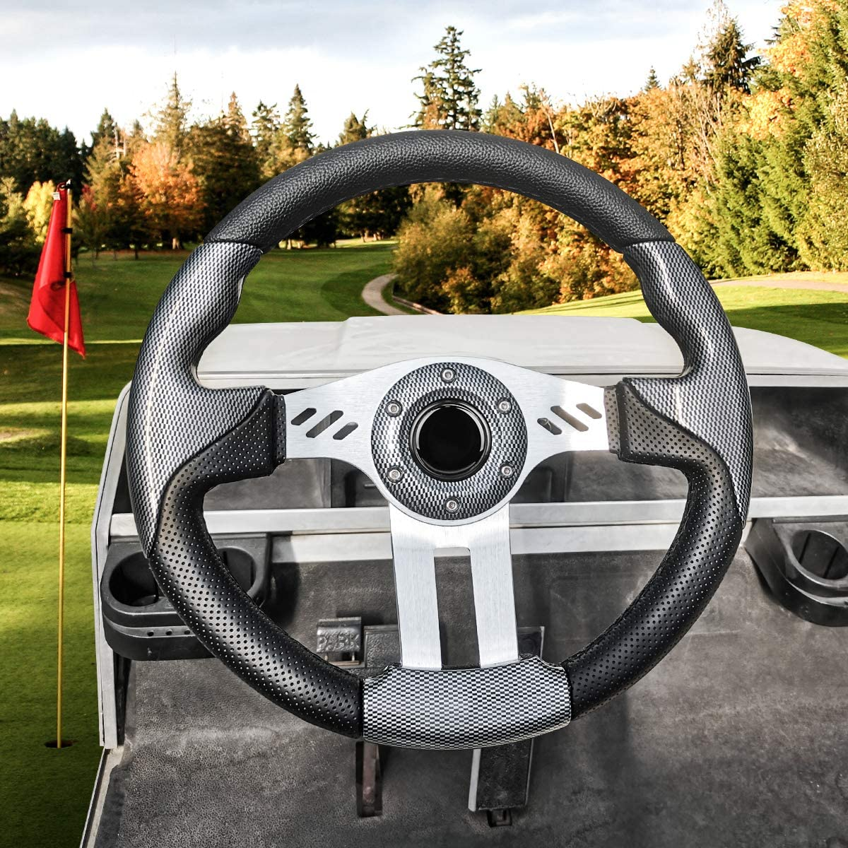 LEAPGO Golf Max 76% Popular brand OFF Cart Steering Wheel or Club Ca Adapter for