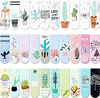 30 Pieces Magnet Magnetic Bookmarks Cute Magnet Page Markers Page Clips Bookmark for Student Office Reading Stationery (Pl...