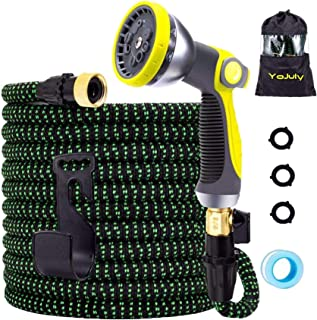Sponsored Ad - YOJULY Expandable Garden Hose,100 ft Leakproof Lightweight Garden Water Hose -with 10 Function Spray Nozzle...