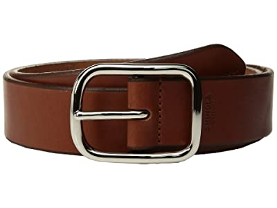 Shinola Detroit Bridle 1 1/2 Center Bar Beveled Edge Belt (Bourbon) Men
