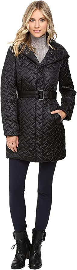 Signature Quilted Coat with Hood