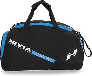 Nivia Sports Space 5412Bb Gym Bag (Black, Blue)