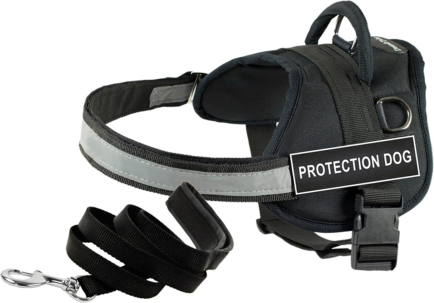 Dean & Tyler's DT Works PredECTION DOG Harness, XXSmall, with 6 ft Padded Puppy Leash.