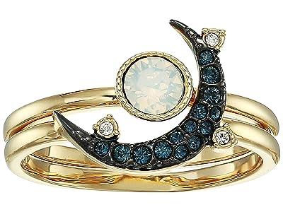 Swarovski Duo Moon Ring (Teal) Ring