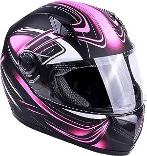 Typhoon Women's Full Face Motorcycle Helmet DOT - SAME DAY SHIPPING (Matte Pink, Medium)