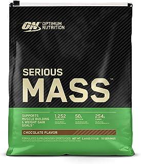 Optimum Nutrition Serious Mass Chocolate Protein Powder Gainer, 5.44 Kilograms