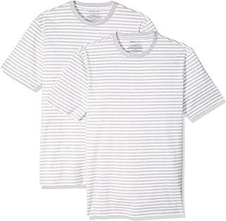 Amazon Essentials Men's Slim-fit Short-Sleeve 2-Pack Stripe Crewneck T-Shirts