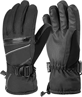 Andake Ski Gloves for Womens,3M Thinsulate Insulated Winter Warm Snowboarding Gloves Windproof Waterproof Gloves for Skiing