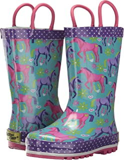 Western Chief Girls Printed Rain Boot, 4 M US Big Kid
