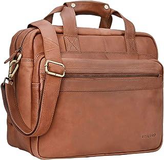 """STILORD Adventure"""" Lehrertasche Herren Damen Aktentasche Office Büro Schulter- oder Umhängetasche Businesstasche für Laptop Leder"""
