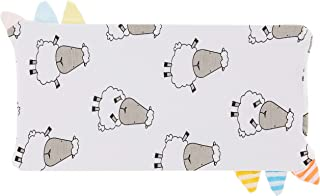 Baa Baa Sheepz Bed-Time Buddy Pillow Case, Stripe Tag, White, Small