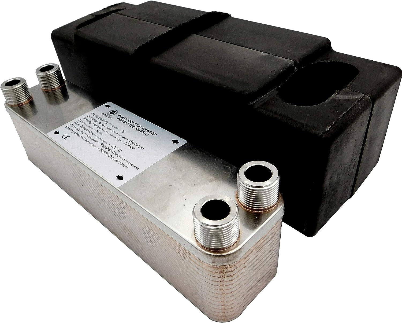 Edelstahl Plattenwärmetauscher Wärmetauscher INOX 20platten NORDIC 90kW Ba-23-20