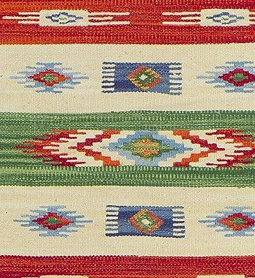 Tappeto Chindi Rag multicolore disponibile in quattordici taglie 60 cm x 210 cm commercio equo e solidale Second Nature con frange Multicolore 120 cm x 120 cm.