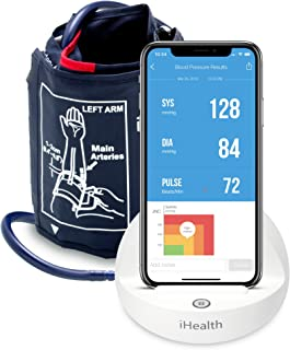 iHealth Ease Wireless Upper Arm Blood Pressure Monitor for Apple and Android with Adult/Large Cuff (11.8-16.5 Inch Circumference)