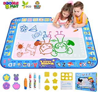 GTurtle Water Drawing Mat Doodle Mat Educational Learning Birthday Toddler Toys Gifts Painting Writing Magic Water Drawing Mat Toys for 2 3 4 5 6 Year Old Girls Boys Large Size 37.7X 29.1 in