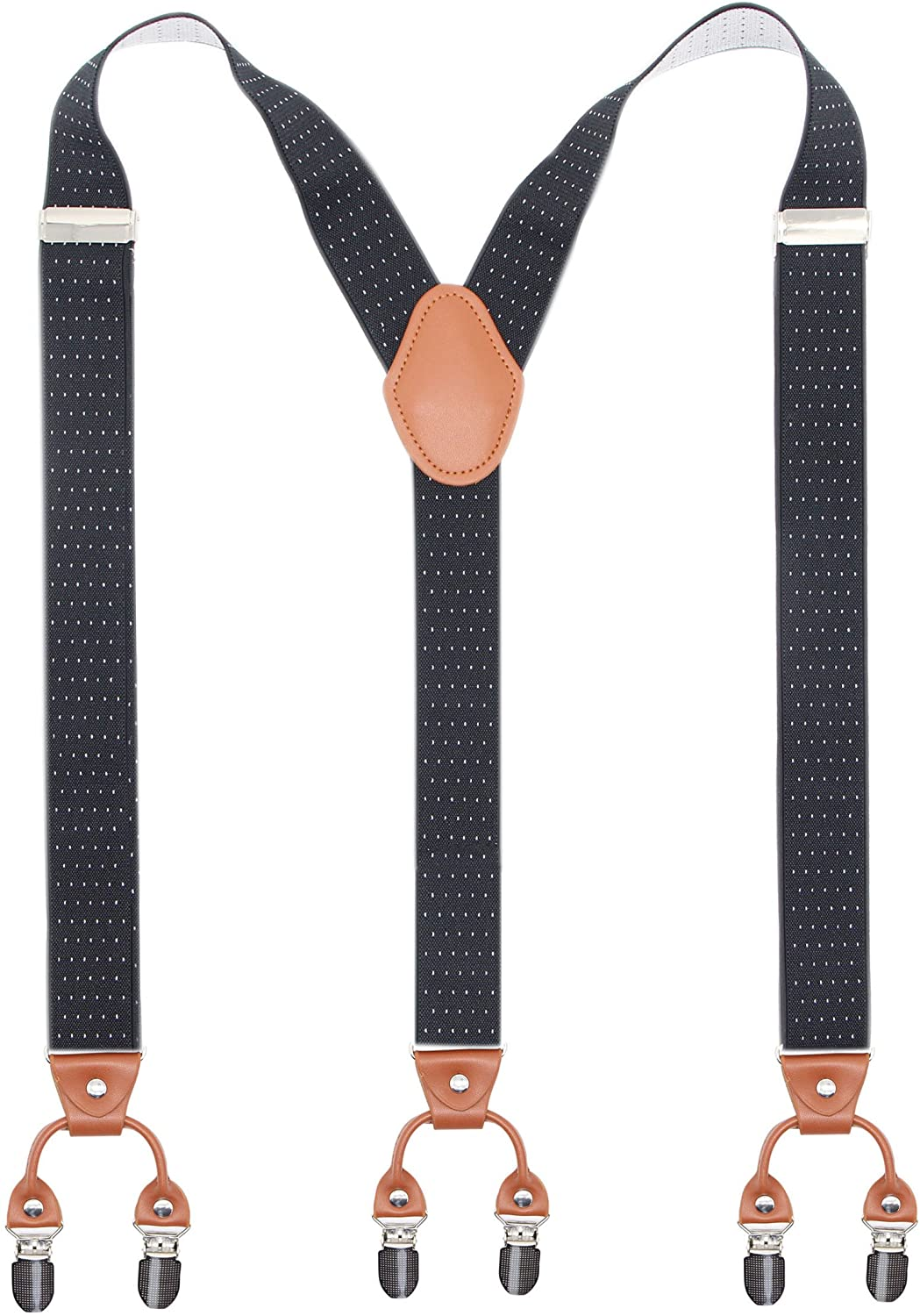 Bioterti Men's Y-Shaped Heavy Duty Spring Mesa Mall new work Suspenders Clips E 6 – Metal