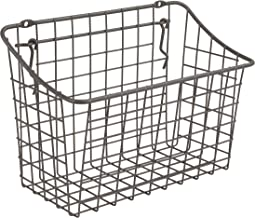 """Spectrum Diversified 88176 Pegboard and Wall Mount Basket, 10"""" x 5"""" x 7"""", Industrial Gray, 10"""