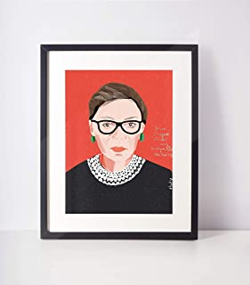 The Notorios RBG Ruth Bader Ready to frame Art Print for cubicle decor- office and dorm room wall art lawyer attorney gift
