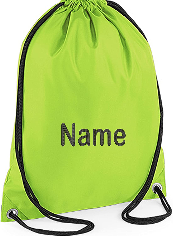 Gym bag with name bee many motifs nursery school fabric bag