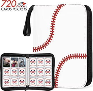 720 Pockets Baseball Card Sleeves Binder for Trading Card, Baseball Card Sleeves Card Holder Album Protectors Set Fit for ...
