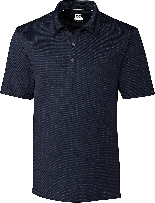 Cutter & Buck BCK09255 Men's Hamden Jacquard Polo Black
