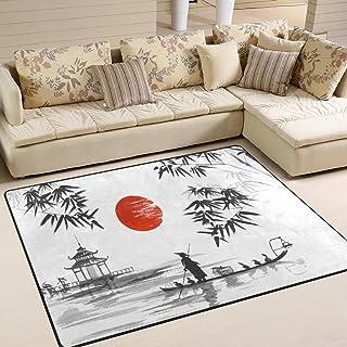 comprar comparacion Use7 Alfombra Tradicional Japonesa de bamb¨² de monta?a, para sal¨®n, Dormitorio, Tela, 203cm x 147.3cm(7 x 5 Feet)