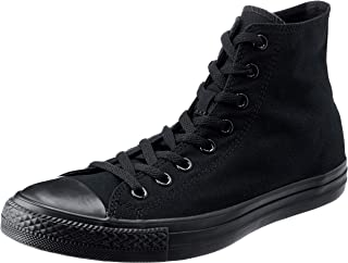 Converse, Chuck Taylor All Star High-top Sneakers, Black Mono, 5 US Women / 3 US Men