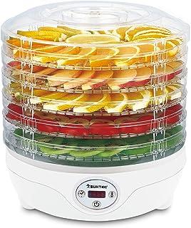 SUNTEC Séchoir à fruits FDH-8595 Dörthe digital [Séchage lent d'aliments sur 5 niveaux, thermostat 35-70°C, minuterie, aff...