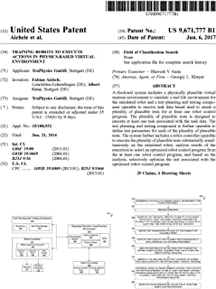 Training robots to execute actions in physics-based virtual environment: United States Patent 9671777 (English Edition)