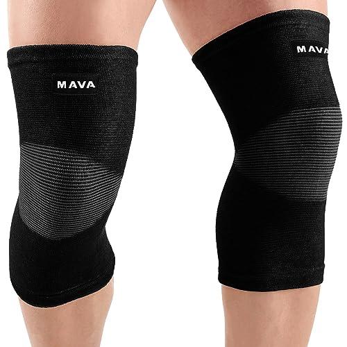 edfde9a748c172 Mava Sports Knee Support Sleeves (Pair) (Black, XX-Large)