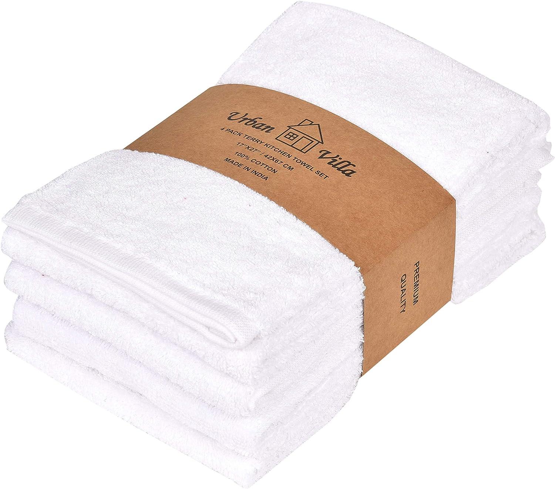 Boston Mall Urban Villa Dual Purpose Terry Cheap sale Premiu Kitchen White Color Towels