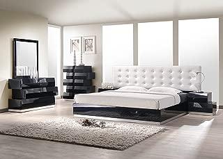 J and M Furniture Milan Black K Set with Chest Bedroom Furniture