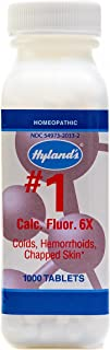 Hemorrhoid Treatment, Homeopathic Relief of Hemorroids, Colds, and Chapped Lips, Hyland's #1 Cell Salt Calcarea Fluorica 6X, 1000 Count