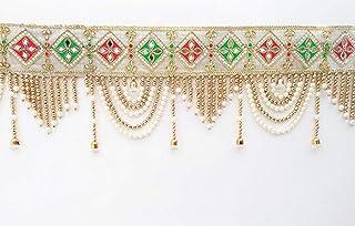 SWADESI STUFF Fabric Bandhanwar Toran Door Hanging (Multi)