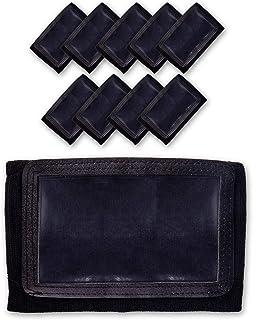 GSM Brands Quarterback (QB) Play Wristband - Adult Size - Pro Football Armband Playbook - 10 Pack (Black)