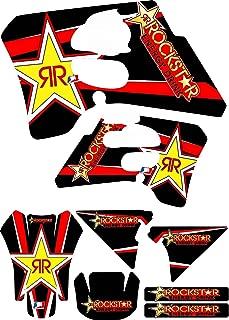 Suzuki Rm250 Rm125 Black Red Energy Graphics Kit 93-95 Rm 125 250 Decal Sticker
