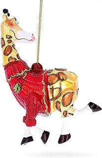 BestPysanky Stylish Giraffe Glass Christmas Ornament