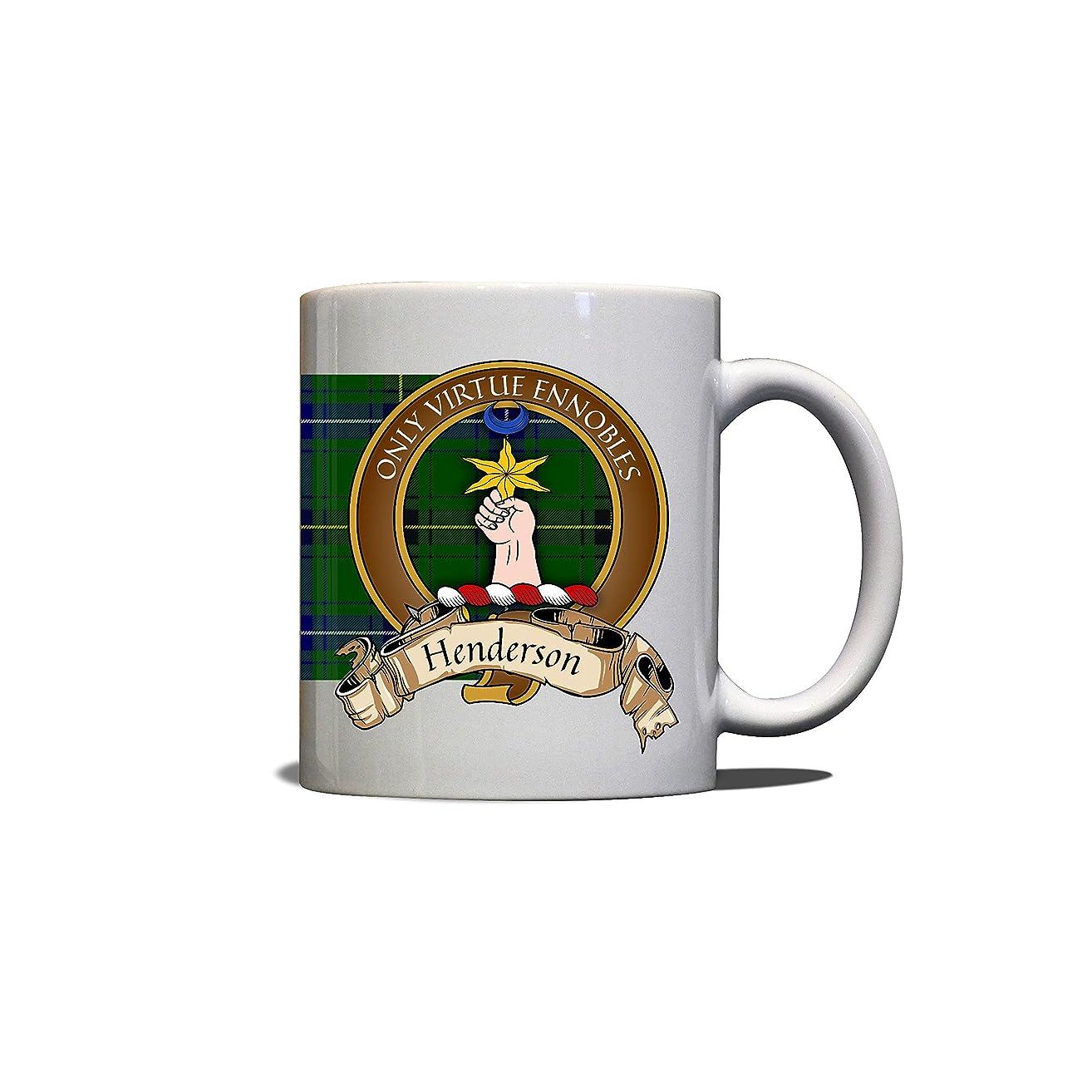 Henderson Scottish Clan Crest Motto Tartan Mug
