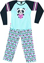 Just Love Two Piece Girls Screen Print Pajamas Set - Jersey Top - Fleece Bottom
