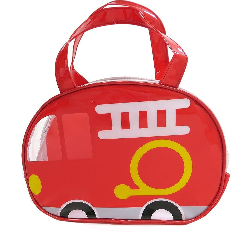 アジア人提出する絶対のフォルテシモ ビニール ボストン バッグ 消防車 ビニールバッグ GDH06
