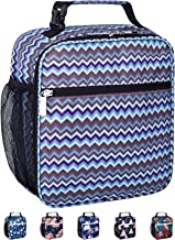 Leakproof Insulated Reusable Cooler Lunch Bag - Durable Compact Office Work School Lunch Box with Multi-Pockets & Detachable Buckle Handle for Women,Men and Kids-Stripe