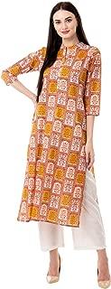 Gulmohar Jaipur Women's Straight Cotton Printed Kurta Pant Set (Green)