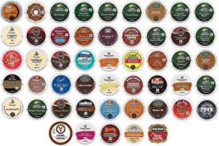 50 Count K Cup Variety Pack - ALL the Top GREEN MOUNTAIN Favorites in one variety pack - 50 Different K Cups - 50 Different Flavors for 2.0 and 1.0 Brewers