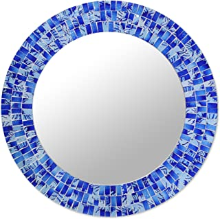 Amazon Com Wall Mounted Mirrors Blue Wall Mounted Mirrors Mirrors Home Kitchen