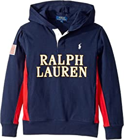 Polo Ralph Lauren Kids - Cotton Jersey Hooded Rugby (Big Kids)
