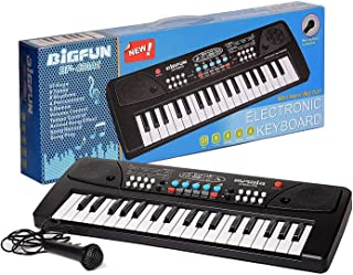 Let's Play BIGFUN Pack 37 Key Piano Keyboard Toy with Mic Dc Power Option Recording for Boys and Girls