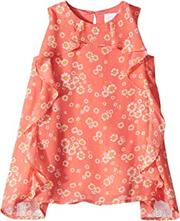Chiffon Ruffle Dress (Toddler/Little Kids)