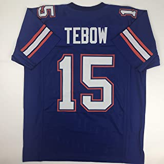 1894705d1 Unsigned Tim Tebow Florida Blue Custom Stitched College Football Jersey  Size Men s XL New No Brands
