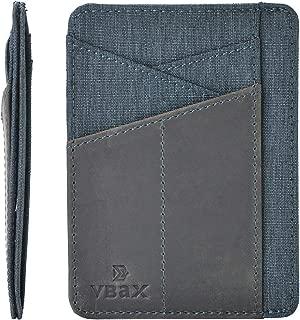 Slim Wallet RFID Leather Minimalist Front Pocket Credit Card Holder