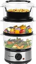 Salter EK2726 Healthy Cooking 3-Tier Food Rice Meat Vegetable Steamer, 7.5 Litre, 7.5 liters